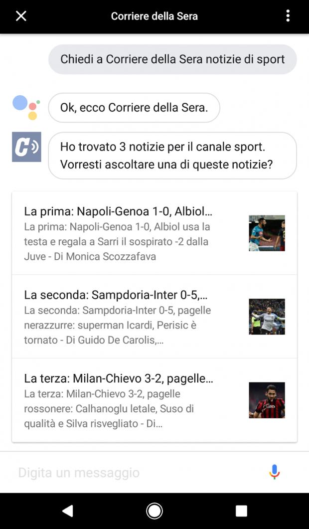 Google assistant in italia si arricchisce delle app android blog italia for Google assistant italia