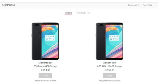 OnePlus 5T è andato a ruba: sold-out record in Europa