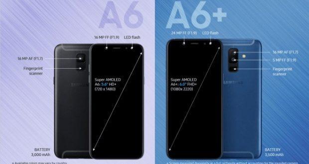 Samsung Galaxy A6 e Galaxy A6+