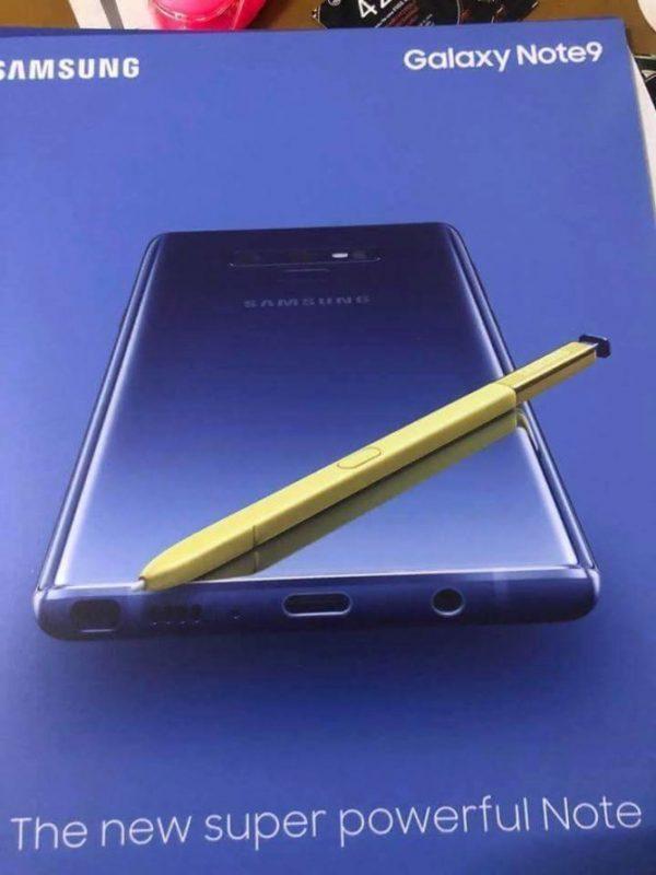 Samsung Galaxy Note9 materiale pubblicitario