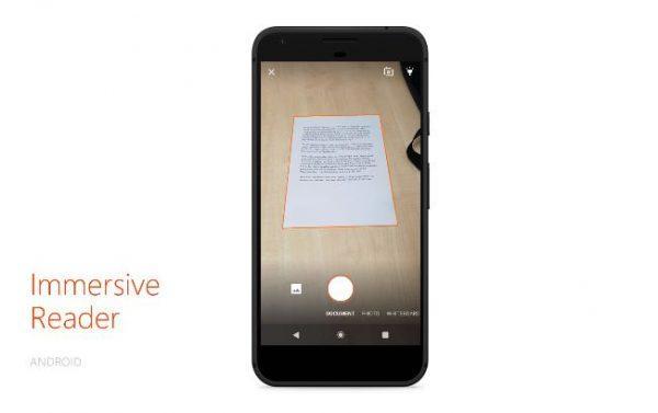 Office Lens Immersive Reading