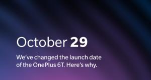OnePlus 6T 29 ottobre