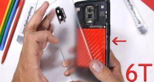 OnePlus 6T back cover trasparente