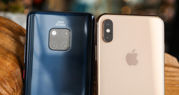 iPhone Xs Max e Huawei Mate 20 Pro