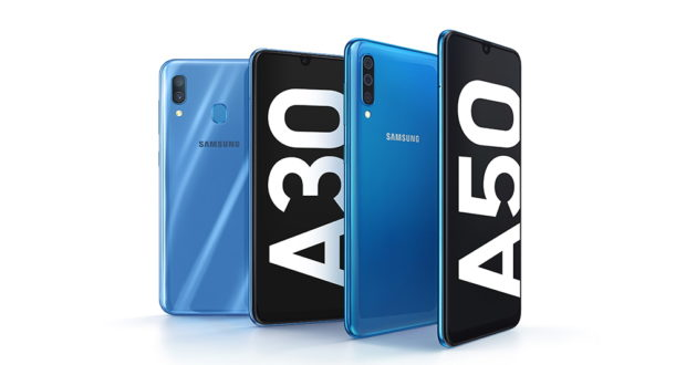 Samsung Galaxy A30 e Samsung Galaxy A50