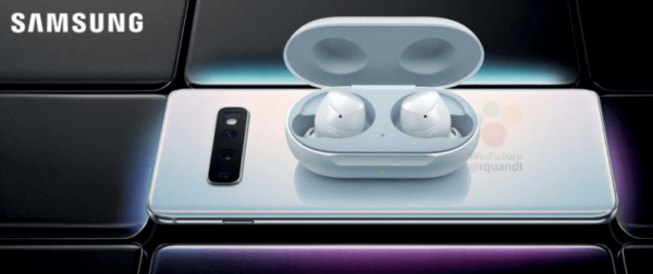 Samsung Galaxy Buds ricarica wireless Galaxy S10