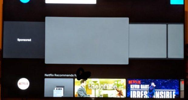 Android TV pubblicità home screen