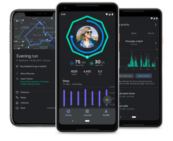 Google Fit Dark Mode