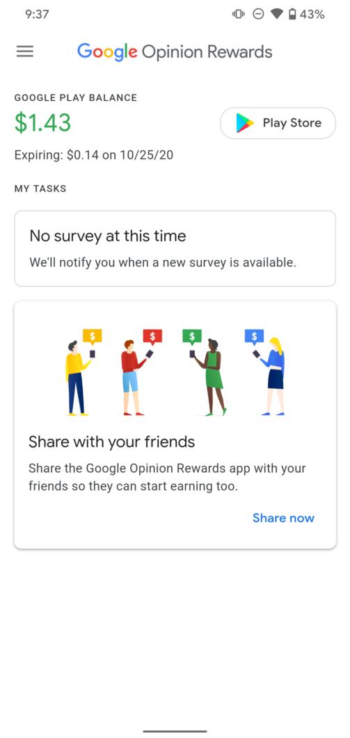 Google Opinion Rewards data di scadenza