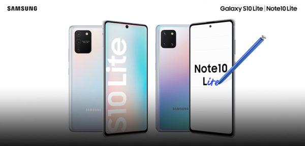 Samsung Galaxy Note 10 Lite e Samsung Galaxy S10 Lite