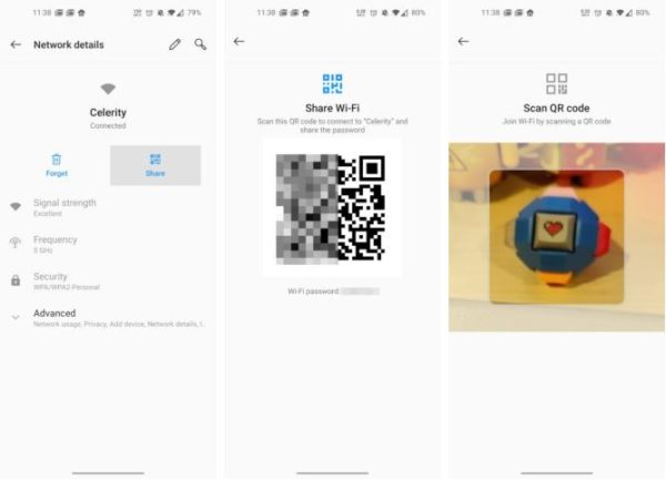 Condividere password WiFi QR Code Android