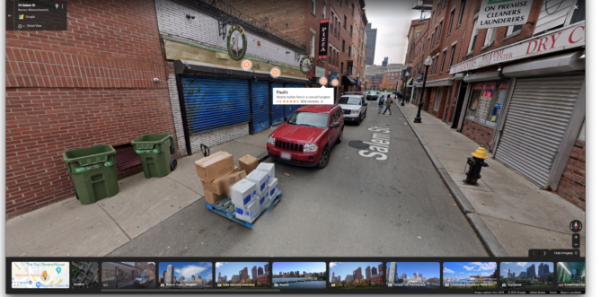 Google Maps etichette Street View