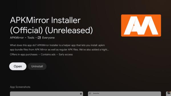 APKMirror Installer Android TV