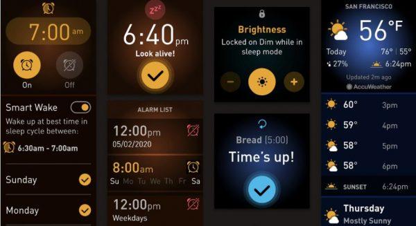 Fitbit OS 5.0 con font Raiju