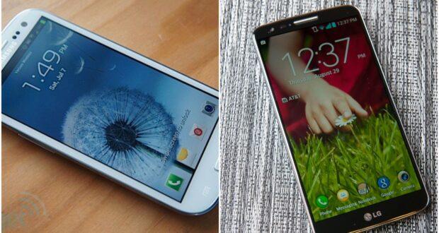 Samsung Galaxy S3 ed LG G2 Android 11