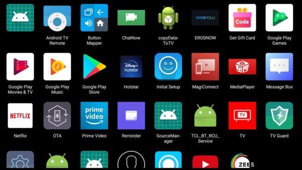 App launcher for TV