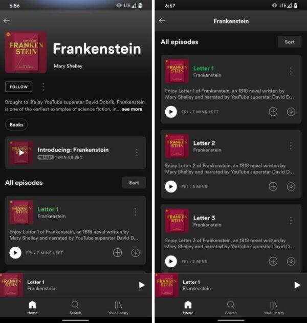 Spotify audiolibri test
