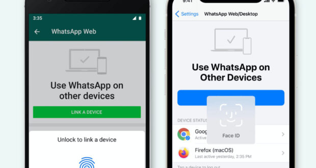 WhatsApp autenticazione biometrica app desktop