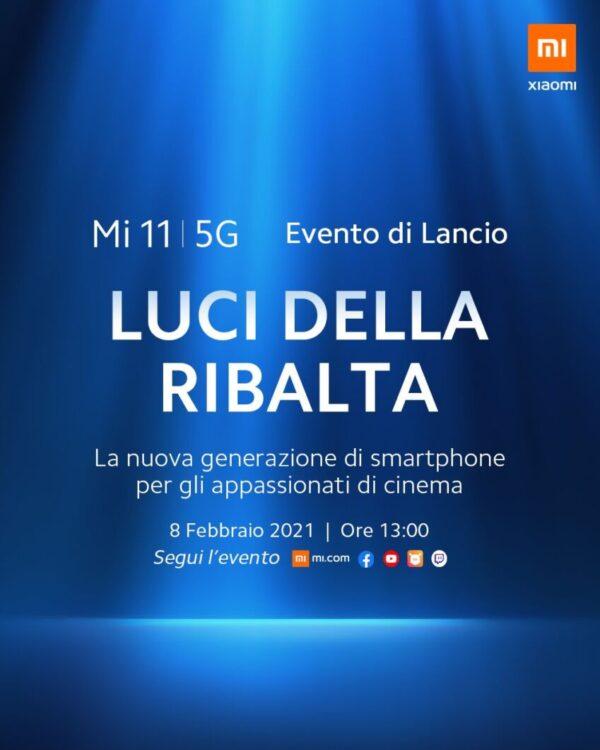 Xiaomi Mi 11 5G presentazione italiana