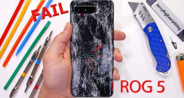 Asus ROG Phone 5 stress test JerryRigEverything