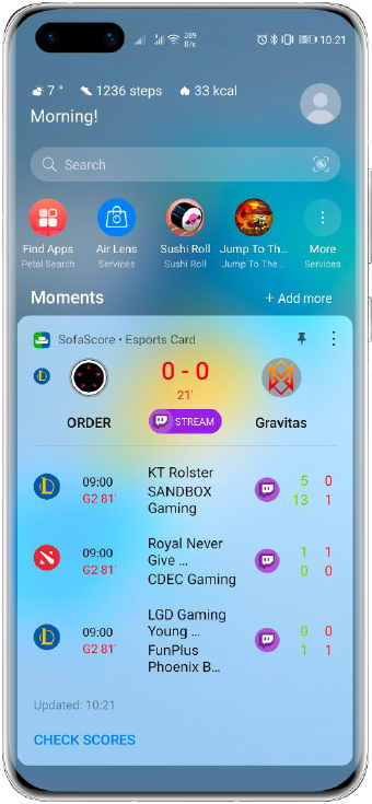 Huawei Assistant schede eSports