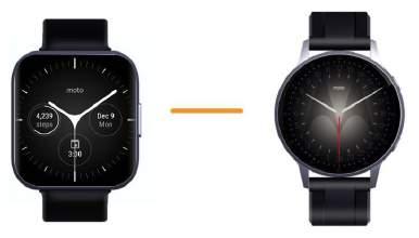 Motorola smartwatch Wear OS 2021