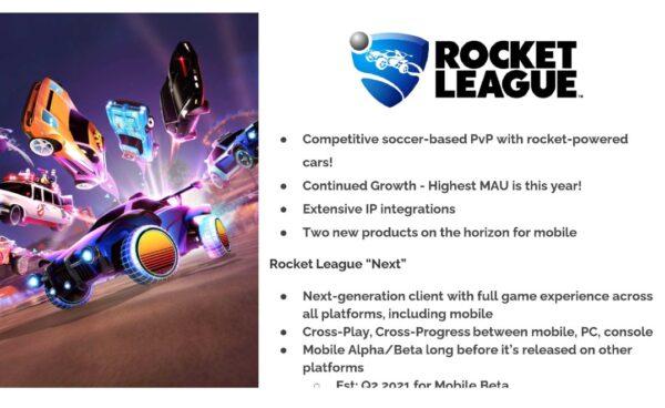 Epic Rocket League piani versione mobile