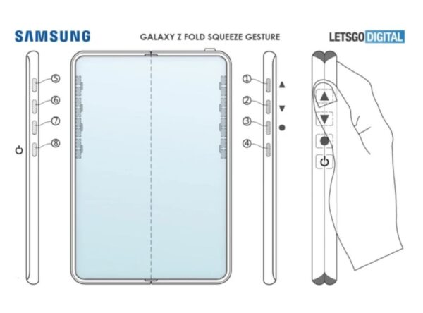 Samsung Galaxy Z Fold 3 senza tasti fisici