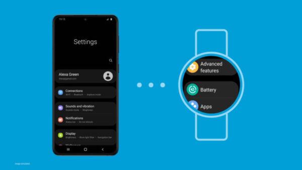 OneUI Watch sincronizzazione