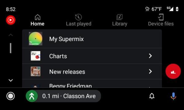 YouTube Music su Android Auto nuova UI