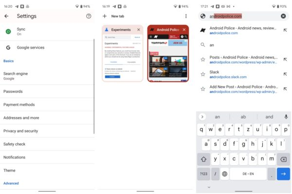 Google Chrome 93 Material You