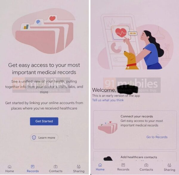 Google Health leaked