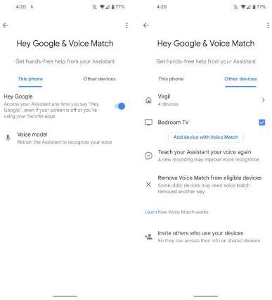 Google Assistant nuovo menu impostazioni