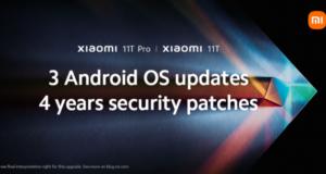 Xiaomi 11T 3 anni aggiornamenti